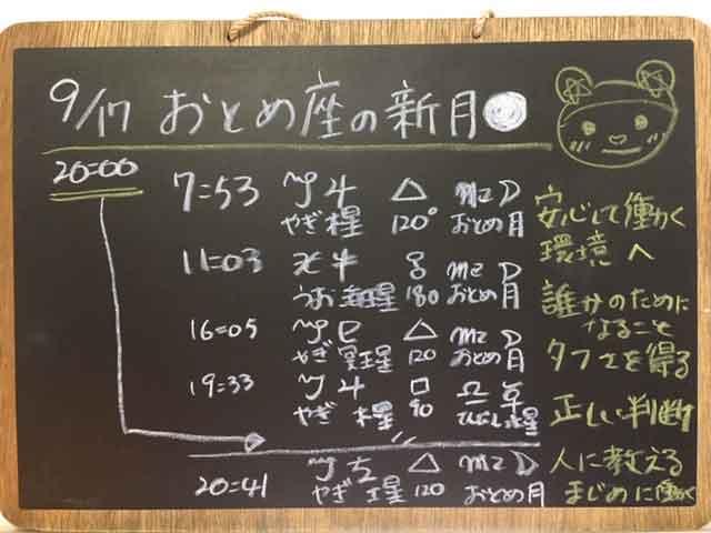 乙女座の新月2020年9月17日