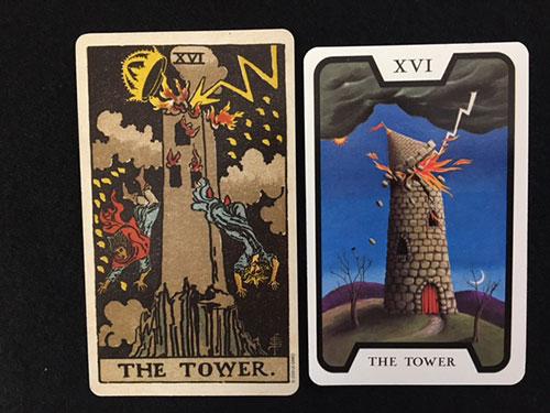 魔女のタロット落雷の塔